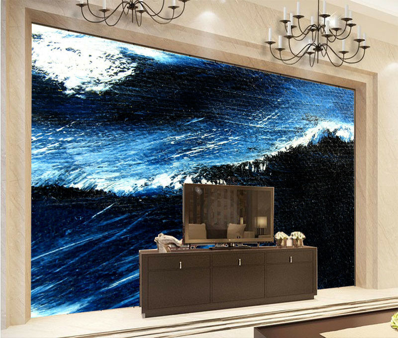 3D Sea Wave Drawing 8 Wall Paper Murals Wall Print Wall Wallpaper Mural AU Lemon