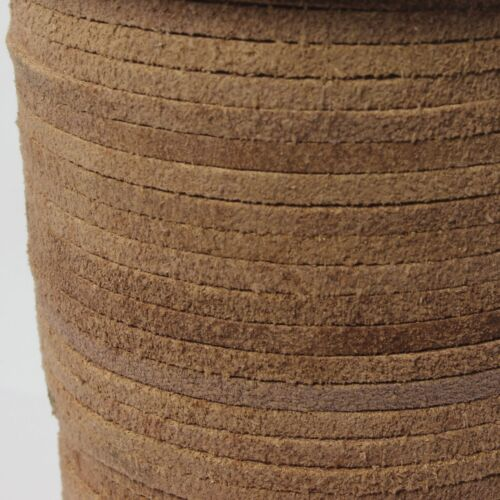 Echt Büffelleder Wildleder eckig Farbe Natur Lederbänder Lederband