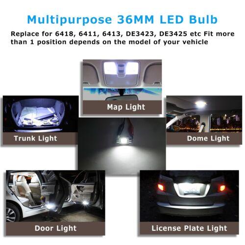 2Pcs CANBUS 36MM LED Festoon Bulbs 3020 SMD White Car Reading Lamp Dome Light