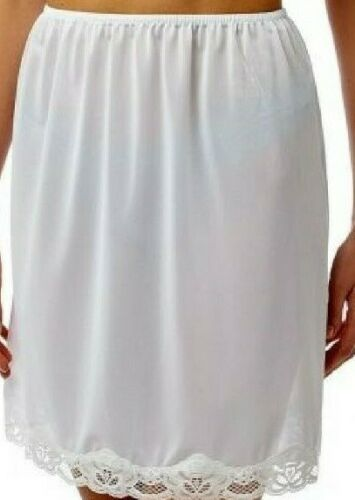 "White 18/"" Half Slip t Underskirt Sizes Available 12 to 26 Ladies Black"