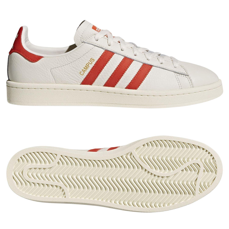 Adidas ORIGINALS hombres CAMPUS TRAINERS CHALK blanco RETRO zapatos zapatillas KICKS