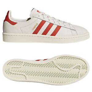detailed look 1e635 1871e ... Adidas-Originaux-HOMME-Campus-Baskets-Craie-Blanc-Retro-