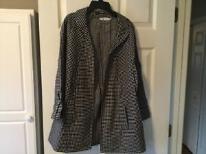 Peter Nygard Swing Jacket From Dillards Black And White Size Medium Ebay