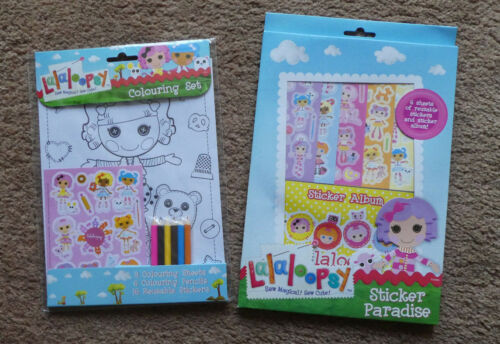 NEW 2 Activity Packs Sticker Paradise // Colouring Set La La Loopsy