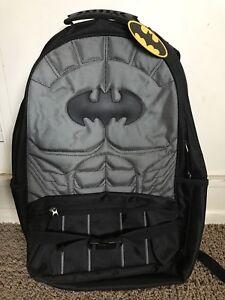 Image Is Loading Batman Dc Comics School Backpack Black Gray Dark