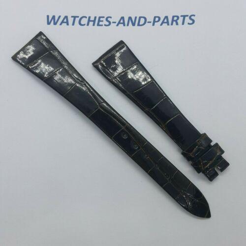 Jaeger LeCoultre Dark Brown Alligator Leather Strap 17/10mm GENUINE NEW ORIGINAL