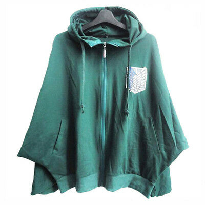 Anime Attack On Titan Cloak Scouting Legion Cotton Hooded Cape Cosplay Costume | eBay