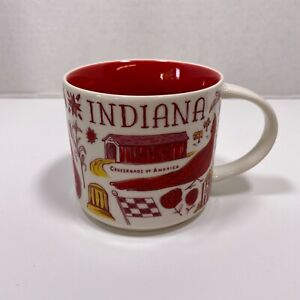 STARBUCKS Coffee Mug Indiana Hoosier Been There Series Collection 14oz 2017