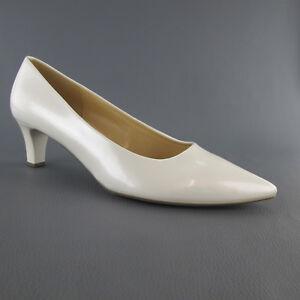 sports shoes 0b978 9c48b Details zu GABOR PUMPS WEISS GR 40,42 NEU DAMEN SCHUHE BRAUT SCHUHE  HOCHZEITSCHUHE NEU