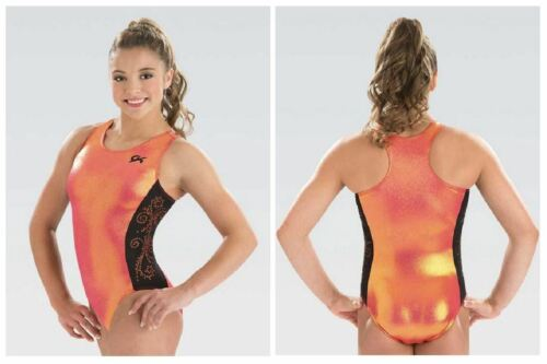 GK Elite Passion Fruit Gymnastics Leotard Child /& Adult Sizes New With Tags