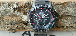 Watch-Horloge-Seiko-Chonograph-Men-039-s-watch-7T92-0NX0