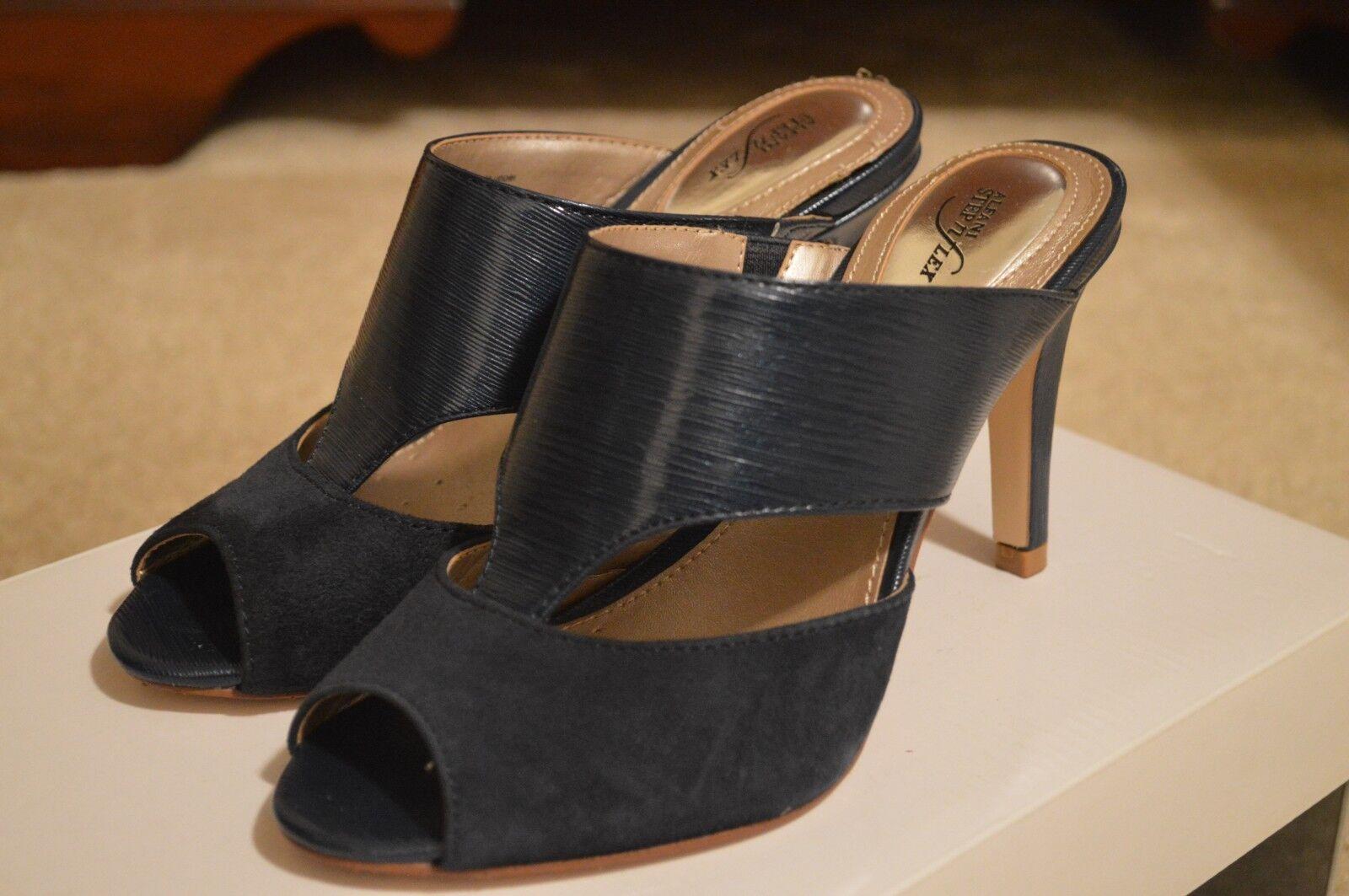 Alfani Step n Flex Women's Morgin Dress Slide Sandals blueeberry Size 6.5 M