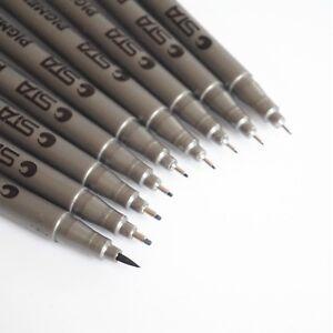 STA-Fine-Liner-Pen-Pigment-Marker-Waterproof-Black-Ink-0-05mm-0-8mm-Brush