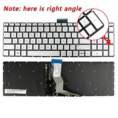 For HP 15-cc060wm 15-cc063nr 15-cc064nr 15-cc065nr Keyboard US Backlit Silver