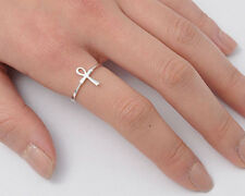 Silver Ankh Cross Ring Sterling Silver 925 Best Deal Plain Jewelry Gift Size 5