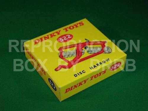Reproduction Box by DRRB Disc Harrow Dinky #322 27h