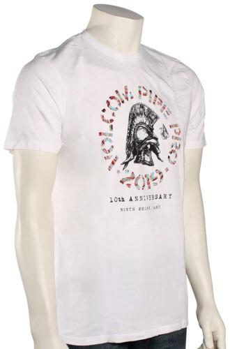 New White Volcom Pipe Pro Lock SS T-Shirt