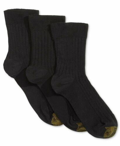 Gold Toe Womens 3 Pack Non-Binding Short Crew Socks