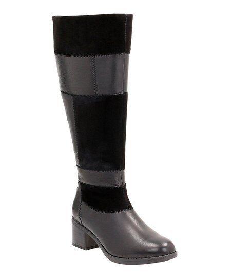 Clarks botas de de de pierna larga señoras de retazos Nevella Nova Cuero Negro Uk 5.5  El ultimo 2018
