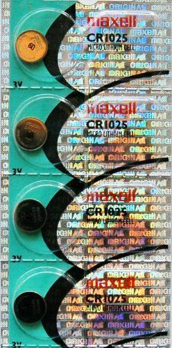4PC MAXELL CR1025 Micro Lithium Coin Cell Battery
