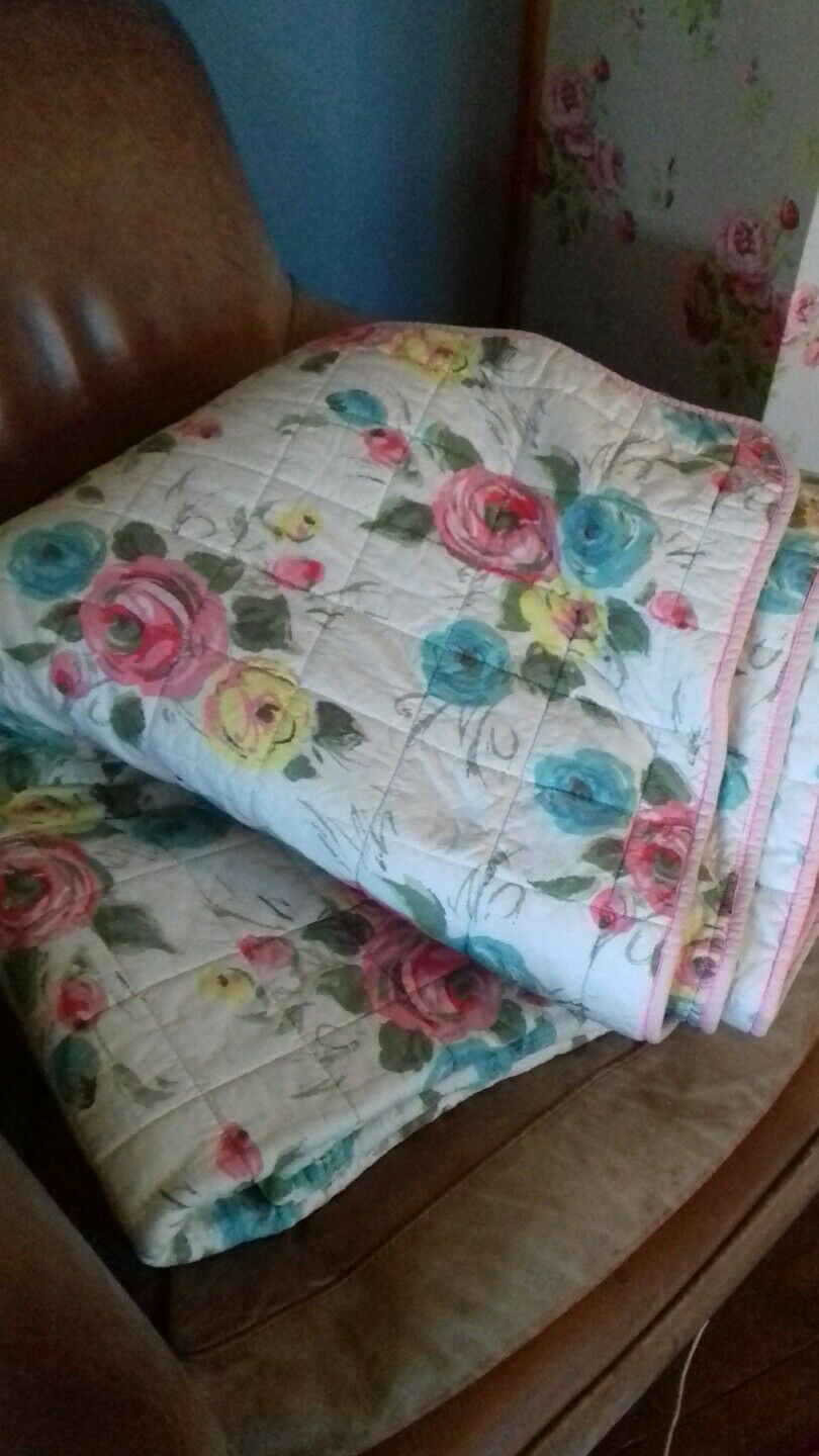 Cath Kidston Painterly pink Double Bedspread