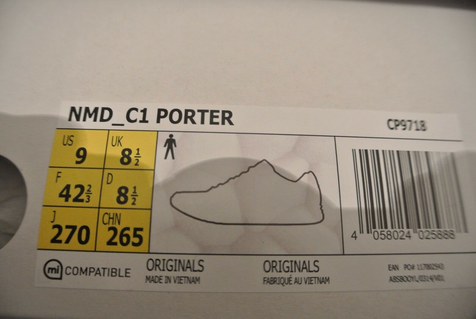 ADIDAS ADIDAS ADIDAS ORIGINALS BY PORTER NMD C1 CHUKKA BOOST +  NMD R1 PK PRIMEKNIT OG 42.5 ef61a2