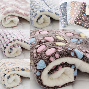 Cute-Dog-Cat-Pet-Plush-Blanket-Mat-Soft-Warm-Sleep-Bed-Blankets-Supply