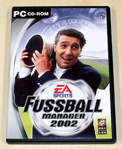 fifa fussball manager 2002 pc spiel ea sports fu ball soccer ebay. Black Bedroom Furniture Sets. Home Design Ideas