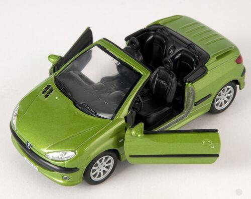 Blitz envío peugeot 206 cc verde//Green Welly modelo auto 1:34-39 nuevo embalaje original /& 1