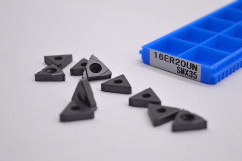 10pcs 16ER 20UN SMX35  Carbide Insert For Threading Turning Tool Boring BAR