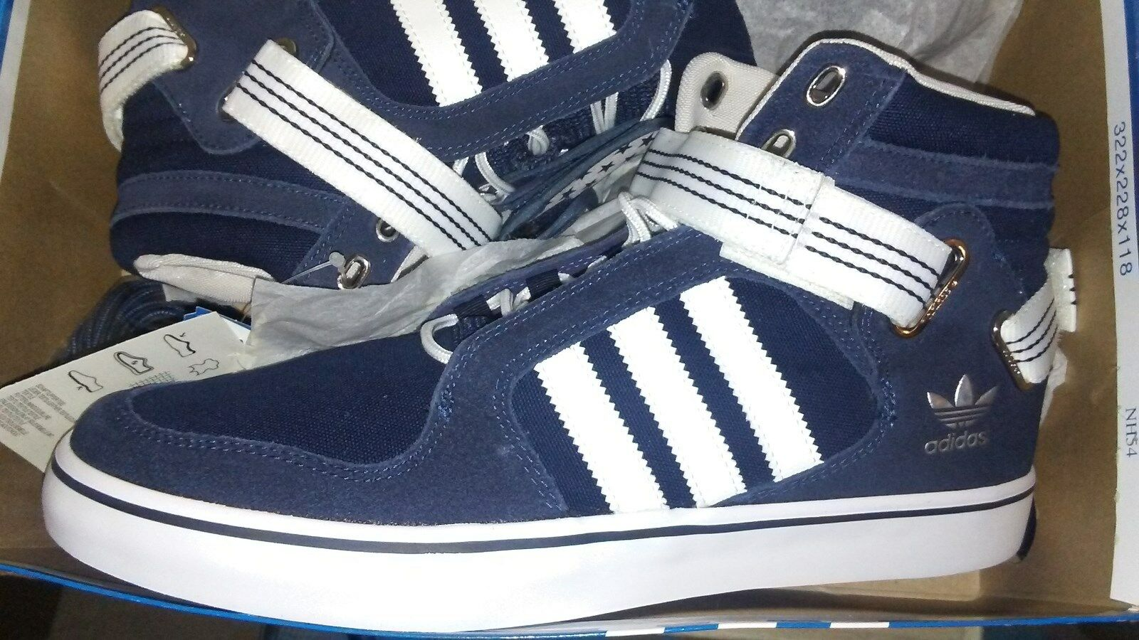 Adidas Originals ADI-RISE ALL-STAR EAST MID top blue canvas Basketball SHOES