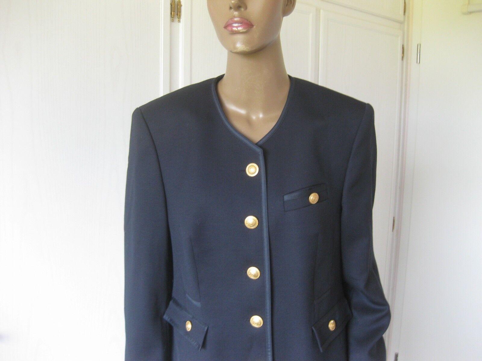 Marcona Exclusiv presso Peter Hahn Costume Costume Costume Tg. 40 lana vergine blu scuro 18eada