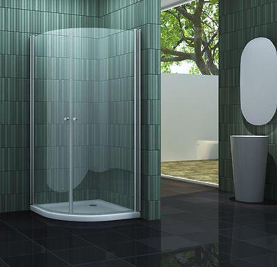 SCALLO 90 x 90 Viertelkreis Glas Duschkabine Dusche Duschwand Duschabtrennung