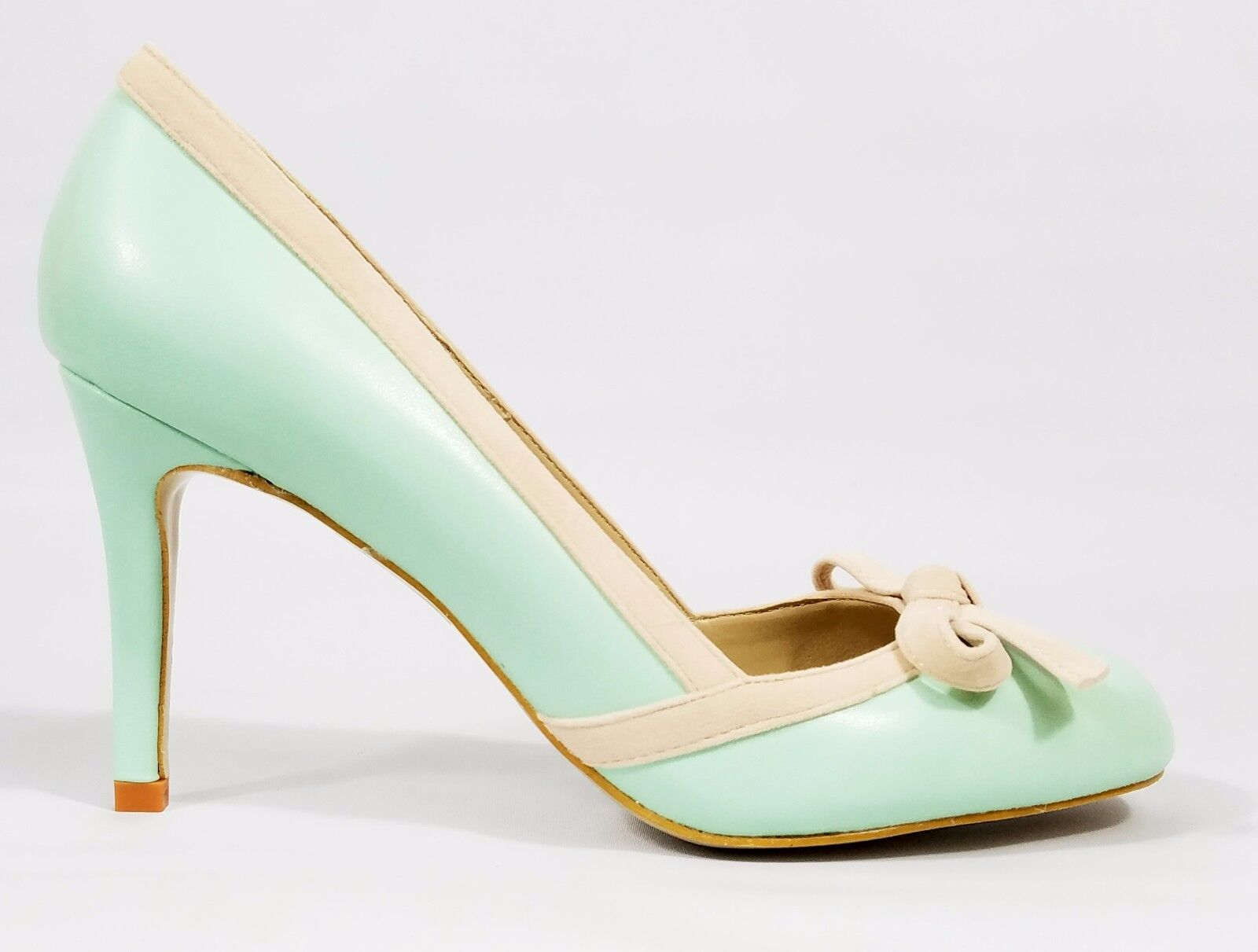 So Me MC Sole Mint Round Toe Single Sole MC Pump High Heel Shoe 6-11 9ed85f
