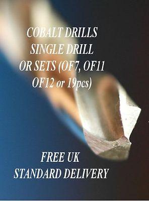 HSS COBALT DRILL BITS - SETS - HIGH QUALITY DRILL BITS - LOWEST PRICE - SINGLE