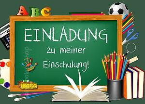 Das Bild Wird Geladen 8 Einladungskarten Einschulung Schulanfang 1 Schultag  Einladung Schule