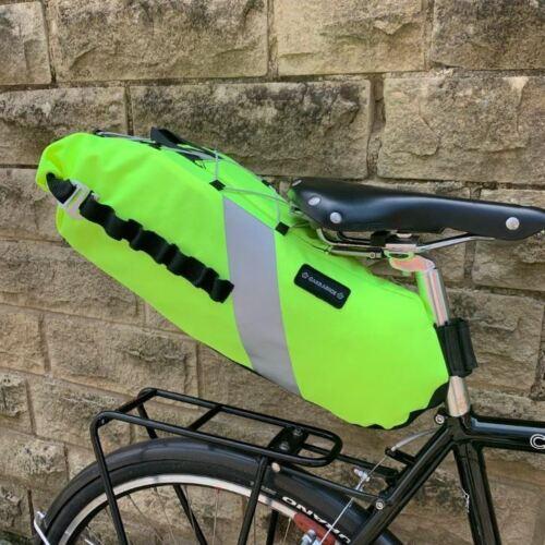 Nouveau Carradice Vélo Emballage Vélo Cordura Tige de selle Mont Siège Pack Fluo *