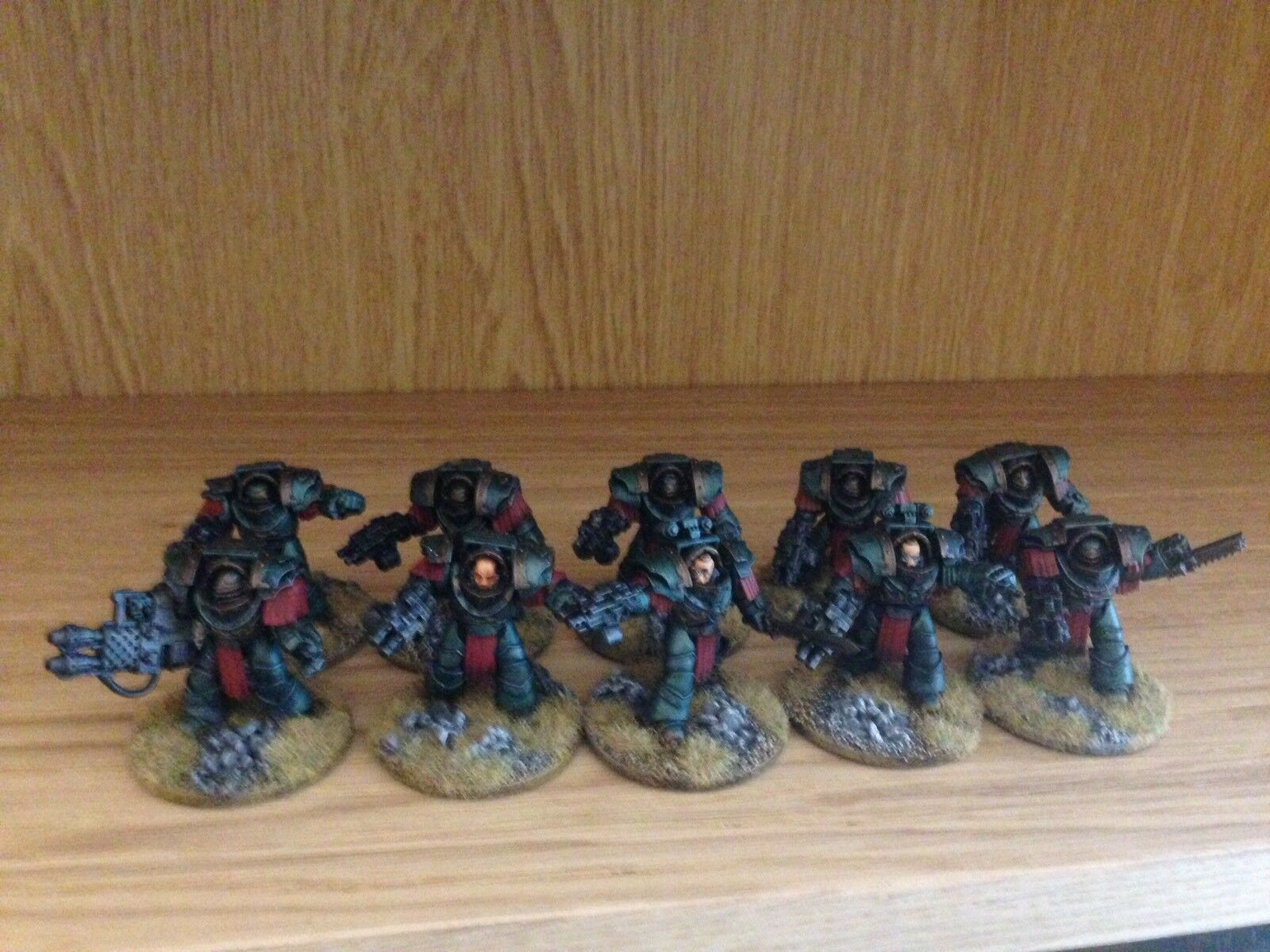 Very Well Painted Warhammer 30k Sons Of Horus Cataphractii Terminators