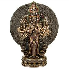 "AVALOKITESVARA STATUE 12"" Many Arm Kwan Yin HIGH QUALITY Buddhist Goddess Bronze"