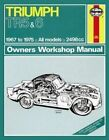Triumph TR5 & TR6 Owner's Workshop Manual by Haynes Publishing Group (Paperback, 2013)