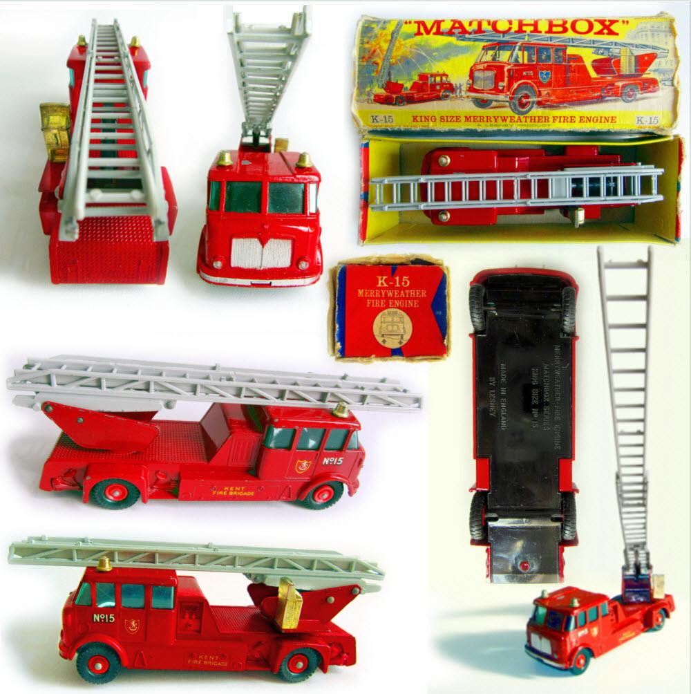 1964' MatchBox - K15 K15 K15 MerryWeather Fire Engine, made in England 30e2c2