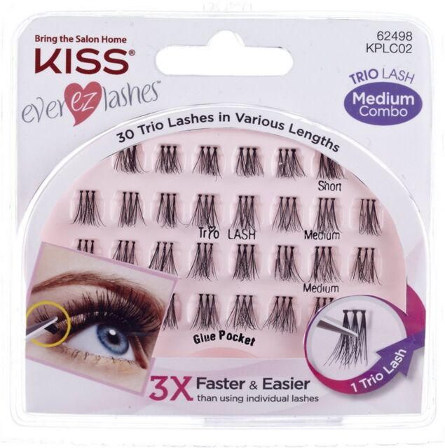41044289b18 Kiss Ever EZ 30 Trio Lashes Medium Combo Kplc02 for sale online | eBay
