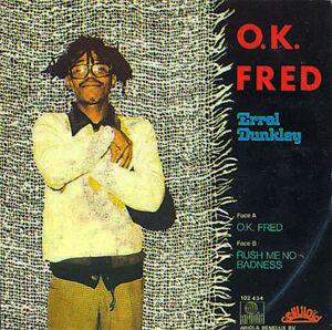 ERROL-DUNKLEY-O-K-Fred-Rush-Me-No-Badness-ARIOLA-1980-pop-rock