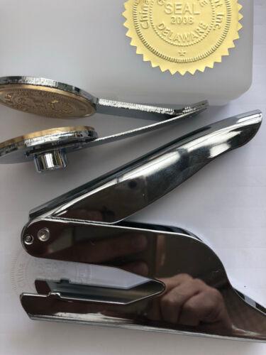 Invitation Custom Paper GOLD Certificate LOGO Embosser Seal  BUSINESS Stamp