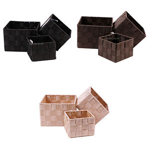 Aufbewahrungsbox 3er Set QUADRATISCH geflochten Korb Box Badezimmer ...
