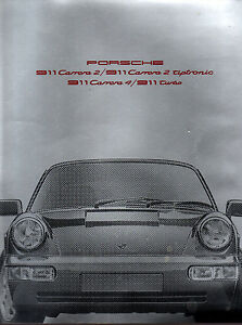 Brochure-catalogue-PORSCHE-1990-911-CARRERA-2-TIPTRONIC-4-TURBO