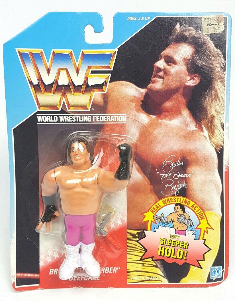 Vintage   BRUTUS BARBER BEEFCAKE WWF HASBRO Figure   Carded MOC WWE 90s Sealed