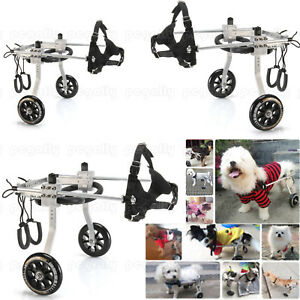 Branded-S-M-L-Stainless-Steel-Cart-Dog-Wheelchair-for-Handicapped-Dog-Walking