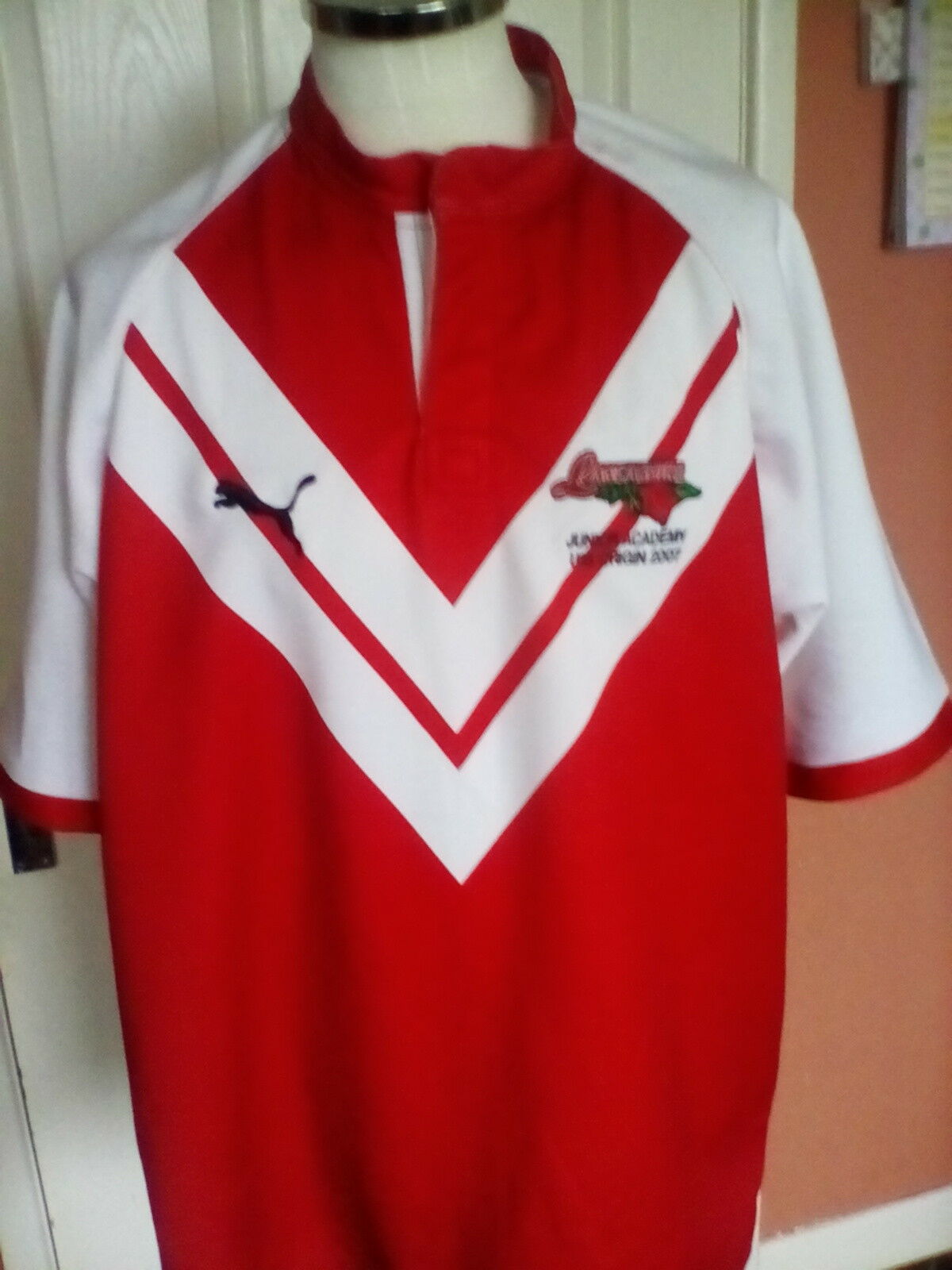 Lancashire Rugby League ,Junior Academy U18 Origin 2007 Jersey  size XL  adult