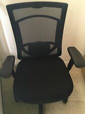 Item 8 Tempur Pedic Tp7000 High Back Office Chair Blue Black Memory Foam Ergonomic